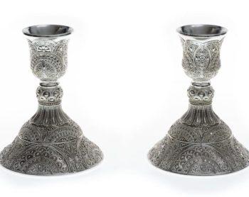 chandelier argenté mariage oriental