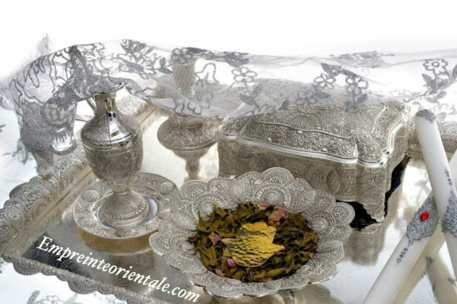 voile argente plateau henna