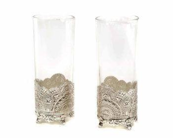 verre à jus argenté mariage