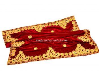 Nappe velours rouge henna