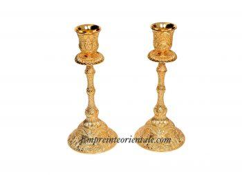 chandelier haut doré