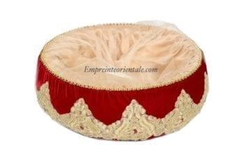 corbeille panier henna velours rouge