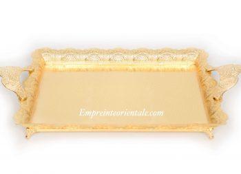 plateau moyen doré en métal