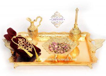 plateau henna doré cérémonie du henné pack essentiel