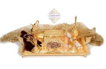 plateau henna luxe doré coffret henna