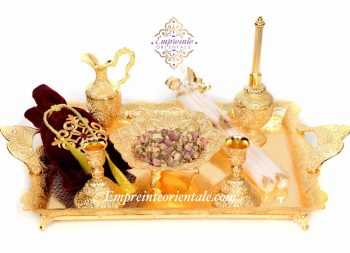 PLATEAU HENNA doré cérémonie du henné pack prestige moyen