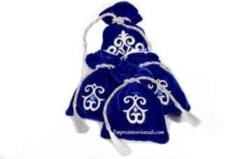 bourse henna velours bleu