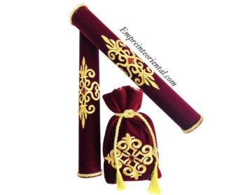 Porte bougie et bourse henna