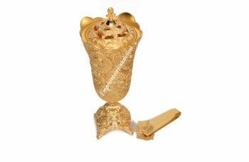 Pack encensoir doré grand format avec pince
