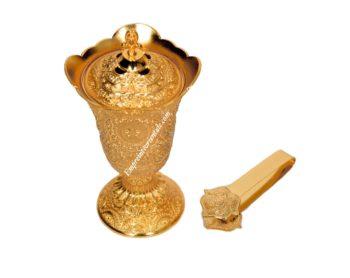 Pack encensoir doré moyen format avec pince