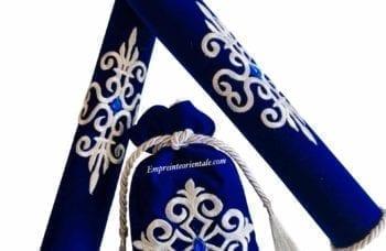 pack porte bougie henna bleu mariage arabe