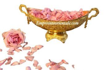 Vasque coupolle henna doré
