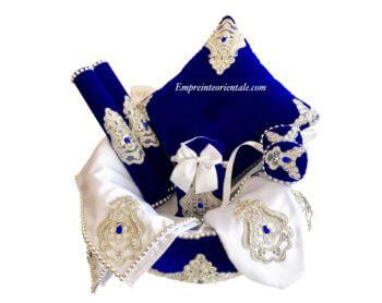 Coffret henna en velours bleu