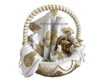 Coffret royal 16 pièces blanc et doré