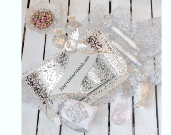 Plateau cristal pour henna mariage